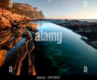 Stunning landscape on the cape peninsula, Southafrica - Stock Photo