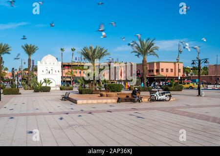 Place des Ferblantiers square in Medina, Marrakech - Stock Photo