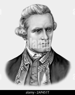 James Cook 1728-1779 English Navigator Explorer - Stock Photo