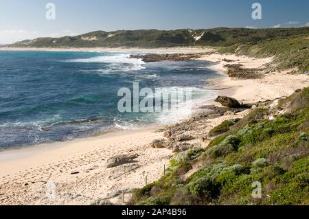 Beach at the Margaret River mouth, Prevelly, South West Western Australia - Stock Photo