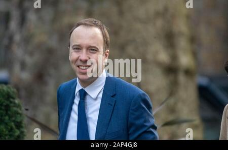 London, UK. 21st Jan, 2020. Matt Hancock Health Secretary arrives at a Cabinet meeting at 10 Downing Street, London Credit: Ian Davidson/Alamy Live News - Stock Photo