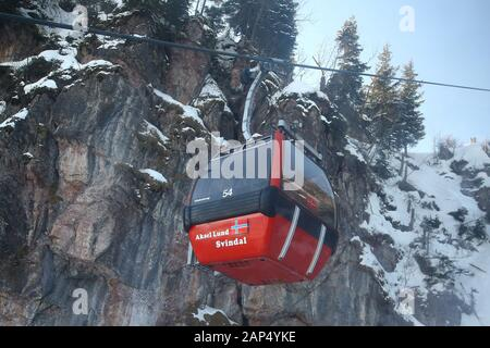 Preview images for the Audi FIS Alpine Ski World Cup Downhill race on January 21 2020 in Kitzbuehel, Austria. - Stock Photo