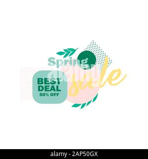 Spring sale best deal vector icon - Stock Photo