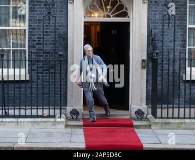 London, UK. 21st Jan, 2020. Special Advisor to Boris Johnson, Dominic Cummings, leaves number 10. Credit: Tommy London/Alamy Live News - Stock Photo