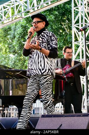 Jeff Goldbloom performing on stage at the BottleRock Festival 2019, Napa Valley, California. - Stock Photo