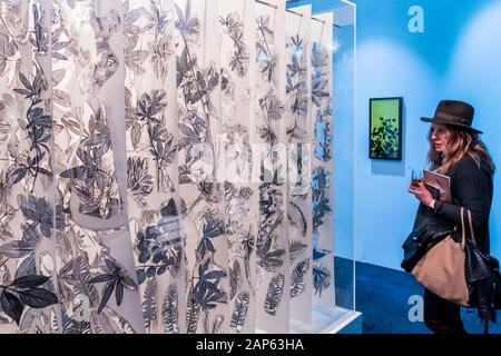 Islington, London, UK. 21st Jan, 2020. Traces of Passion by Jack Milroy, in Art First - The London Art Fair, at the Business Design Centre in Islington. Includes international galleries selling modern and contemporary artworks. Credit: Guy Bell/Alamy Live News - Stock Photo