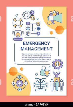 Emergency management brochure template. Flyer, booklet ...