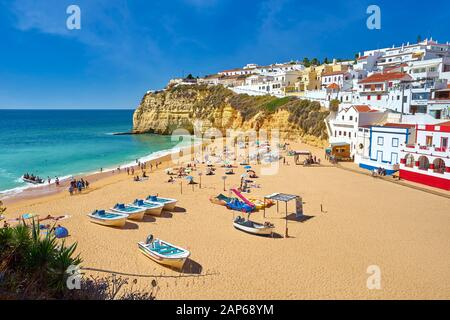 Carvoeiro Beach, Algarve, Portugal - Stock Photo