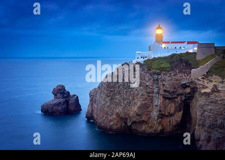 Cabo de Sao Vicente Lighthouse, Sagres, Algarve, Portugal