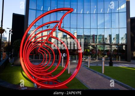London, UK. 21st Jan, 2020. Vodafone's logo displayed at the front of its office in London, UK. Credit: Dinendra Haria/SOPA Images/ZUMA Wire/Alamy Live News - Stock Photo