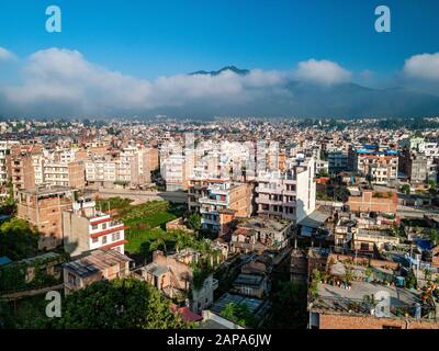 Aerial view of the the buildings of the city - Stock Photo