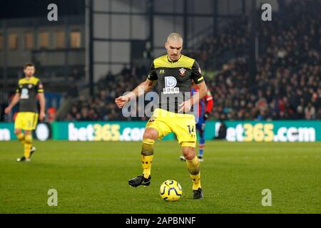 London, UK. 21st Jan, 2020. Oriol Romeu of Southampton during the Premier League match between Crystal Palace and Southampton at Selhurst Park, London, England on 21 January 2020. Photo by Carlton Myrie. Editorial use only, license required for commercial use. No use in betting, games or a single club/league/player publications. Credit: UK Sports Pics Ltd/Alamy Live News - Stock Photo