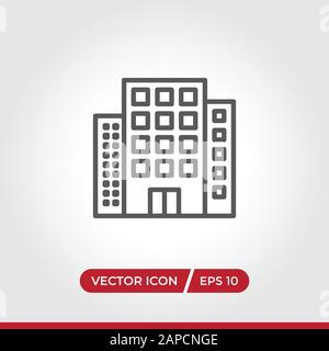 Buildings icon vector. Simple buildings sign in modern design style for web site and mobile app. EPS10 - Stock Photo