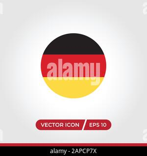 Germany flag icon vector. Simple Germany flag sign in modern design style for web site and mobile app. EPS10 - Stock Photo