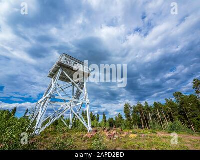 Ute Mountain Fire Tower National Historic Site, Ashley National Forest, Utah. - Stock Photo