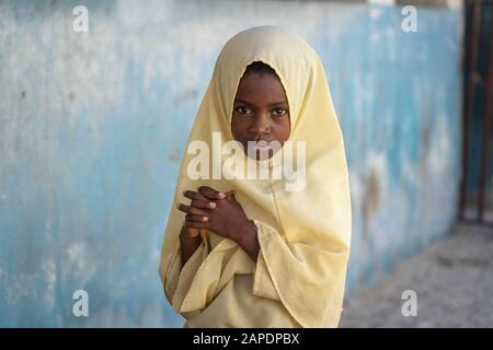 Young African Girl On The Tropical Beach In Island Of