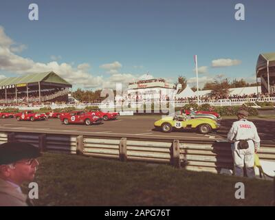 RAC TT Celebration race Goodwood Revival 2015 - Stock Photo