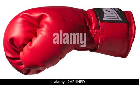 Red boxing glove cut-out - Stock Photo