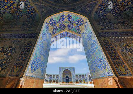 Shah Mosque known also as Imam Mosque in Isfahan, Iran - Stock Photo