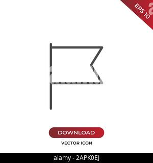 Flag icon vector. Simple flag sign in modern design style for web site and mobile app. EPS10 - Stock Photo