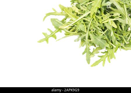 Fresh argugula leaves, healthy salad - Stock Photo