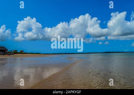 Pristine and Turquoise Portuguese Island beach near Inhaca Island in Maputo Mozambique - Stock Photo