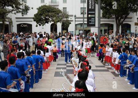 San José, Costa Rica. 23rd Jan 2020. The annual festival to honor the Chinese presence in Costa Rica and celebrate the Chinese New Year is held in the capital city of San José, San José Province, Costa Rica. Credit: Tim Fleming/Alamy Live News - Stock Photo