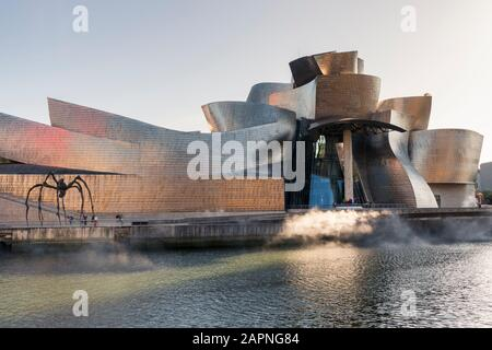 Maman, a giant spider sculpture outside the Guggenheim Museum in Bilbao, Spain.