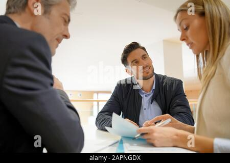 Candidate in corporate business interview - Stock Photo