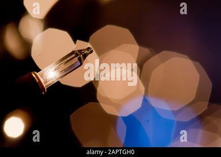 Christmas light abstract bokeh - Stock Photo
