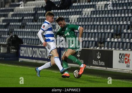 London, UK. 24th Jan 2020. during the FA Cup 4th Round match between Queens Park Rangers and Sheffield Wednesday at Kiyan Prince Foundation Stadium, London on Friday 24th January 2020. (Credit: Ivan Yordanov | MI News)Photograph may only be used for newspaper and/or magazine editorial purposes, license required for commercial use Credit: MI News & Sport /Alamy Live News - Stock Photo