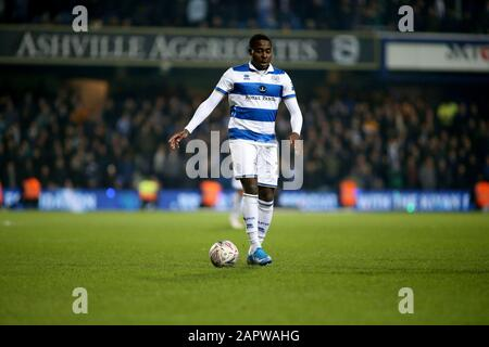 London, UK. 24th Jan, 2020. Bright Osayi-Samuel of Queens Park Rangers in action during The Emirates FA Cup, 4th round match, Queens Park Rangers v Sheffield Wednesday at The Kiyan Prince Foundation Stadium, Loftus Road in London on Friday 24th January 2020. this image may only be used for Editorial purposes. Editorial use only, license required for commercial use. No use in betting, games or a single club/league/player publications. pic by Tom Smeeth/Andrew Orchard sports photography/Alamy Live news Credit: Andrew Orchard sports photography/Alamy Live News - Stock Photo