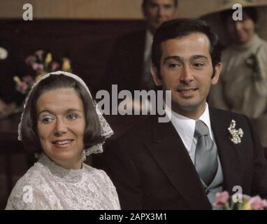 civil marriage Princess Christina and Jorge Guillermo in Stadhuis in Baarn, headlines; - Stock Photo