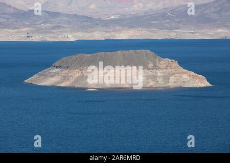 A view of Lake Mead in Nevada, USA - Stock Photo