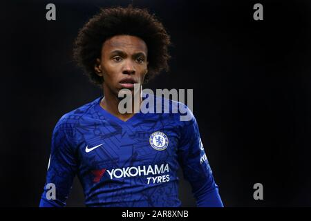 Willian of Chelsea - Chelsea v Arsenal, Premier League, Stamford Bridge, London, UK - 21st January 2020  Editorial Use Only - DataCo restrictions apply - Stock Photo