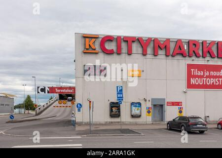 K-Citymarket Warehouse in Hämeenlinna Finland - Stock Photo