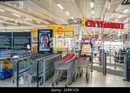 K-Citymarket Warehouse in Hämeenlinna Finland - Stock Photo