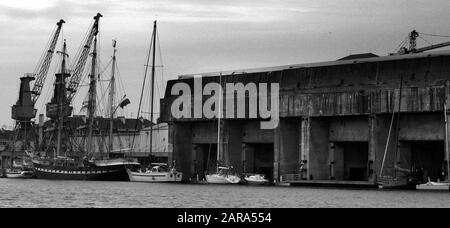 u boat pens st nazaire loire atlantique france - Stock Photo