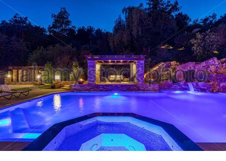 **MANDATORY CREDIT: The Agency/Cover Images**  A $26,500,000 property is on sale that is the ultimate Star Wars fan's dream.   In a galaxy not so far away—actually the enclave of Hidden Hills in L.A. —is a home featuring an out-of-this-world collection of memorabilia from the sci-fi saga.   Inclusion of the collectibles is reportedly open to negotiation, and there is also an 18-seat theatre is outfitted with Star Wars-inspired details.   Additional features include a private on-site observatory, basement entertainment complex with home theatre, a fitness studio, a wine room, a 6-car garage and - Stock Photo