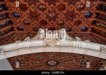 Monastery of San Juan de los Reyes in the Old city of Toledo, Spain, UNESCO World Heritage - Stock Photo