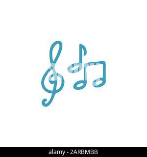 music icon line design template - Stock Photo
