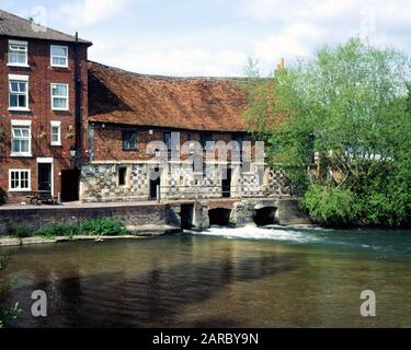 The old Mill, Harnham, Salisbury, Wiltshire, England. - Stock Photo