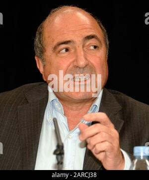 Boris Berezovsky who claims he was the target of Russian assassination plot at a press conference in Whitehall in July 2007. - Stock Photo