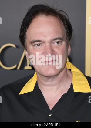 Los Angeles, USA. 27th Jan 2020. Quentin Tarantino arrives at the 92nd Oscars Nominees Luncheon held at the Ray Dolby Ballroom at Hollywood & Highland in Hollywood, CA on Monday, ?January 27, 2020.  (Photo By Sthanlee B. Mirador/Sipa USA) - Stock Photo