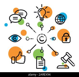 Vector illustration copyright vector icons
