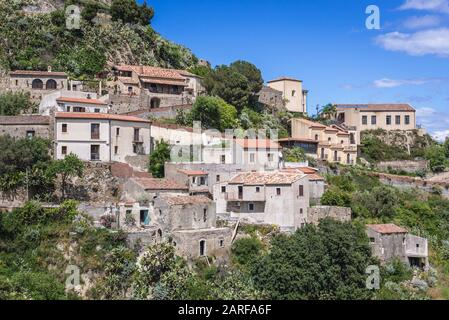 Savoca comune, famous for filming locations of The Godfather movies on Sicily Island in Italy. - Stock Photo