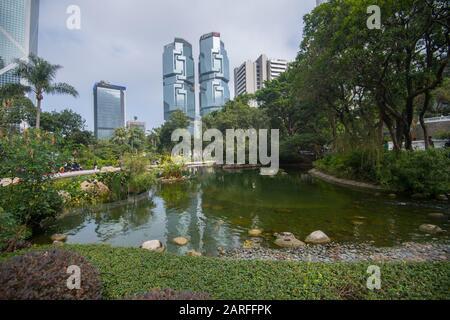 Hong Kong, China. 16th Jan, 2020. Hong Kong, China January 2020: Impressions of Hong Kong - January 2020 Hong Kong Park   usage worldwide Credit: dpa/Alamy Live News - Stock Photo