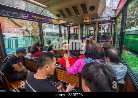 Hong Kong, China. 16th Jan, 2020. Hong Kong, China January 2020: Impressions of Hong Kong - January 2020 Hong Kong, Peak Tram   usage worldwide Credit: dpa/Alamy Live News - Stock Photo