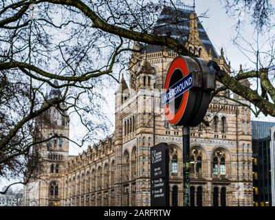 Natural History Museum London in South Kensington. Architect Alfred Waterhouse opened 1881.