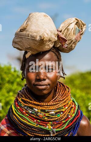Nyangatom tribe, Omo Valley, Ethiopia. - Stock Photo